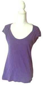 Banana Republic Short Sleeve Ruched T Shirt Purple