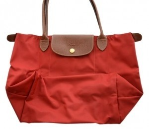 Longchamp Tote in Deep Red