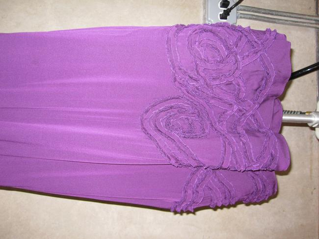 Catherine Malandrino short dress Purple Summer Bridal Silk Floral Halter on Tradesy