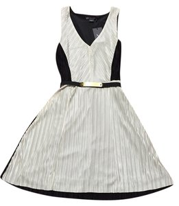 A|X Armani Exchange short dress CREAM/BLACK on Tradesy