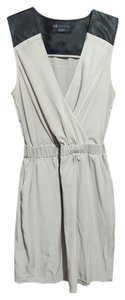 A|X Armani Exchange short dress bone white/black on Tradesy