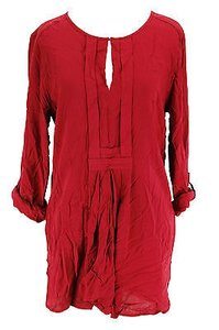 Studio M Womens Rayon Top red