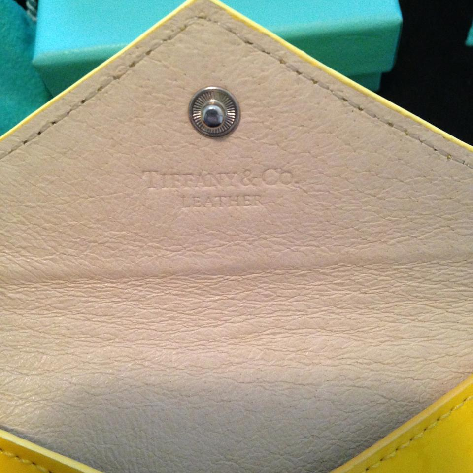 Tiffany & Co. Canary Yellow Patent Leather Business Card Envelope ...