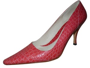Banana Republic Leather Croc pink Pumps