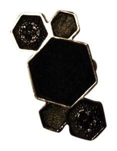 House of Harlow 1960 House of Harlow 1960 Cluster Ring Black