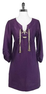 Diane von Furstenberg short dress Purple Linen on Tradesy