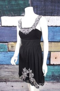 Free People short dress Black, White Black Floral on Tradesy