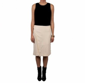 Waverly Grey Phia Fringed Cross Front 230043f Skirt Ivory
