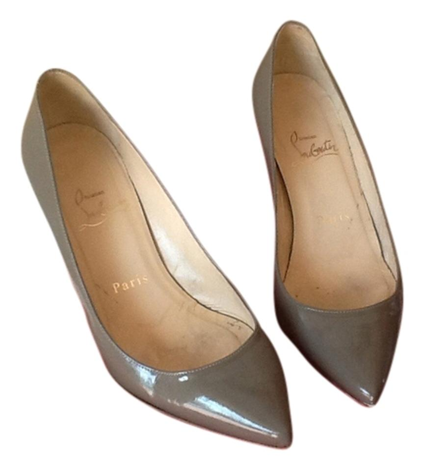 Christian Louboutin Taupe Pumps On Sale, 73% Off