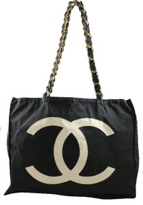 Chanel Cc & Large Tote in Black and White