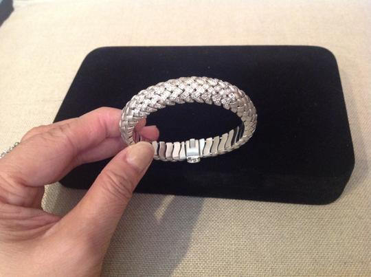 Other 14K SOLID white gold bracelet with 120 pave diamonds