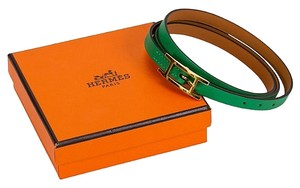 Hermès New Hermes Green Bamboo Triple Bracelet With Box