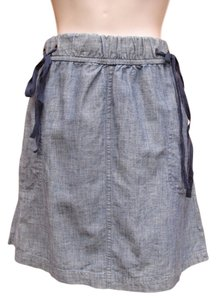 Banana Republic Elastic Mini Pockets Mini Skirt Chambray