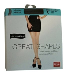 Other Two Plus Size No Nonsense Great Shapes Almost Black Pantyhose Size C