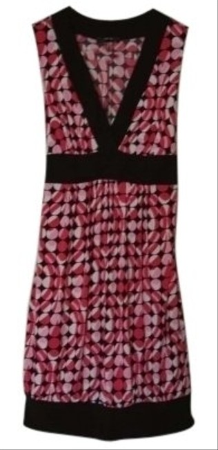 Item - Pink/White/Black Sleeveless Mid-length Cocktail Dress Size 8 (M)