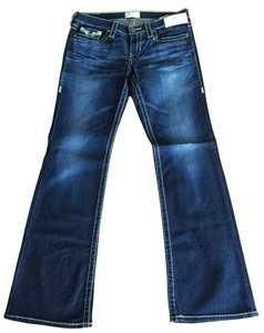 Big Star Pants Boot Cut Jeans-Medium Wash