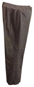 Tribal Ribbon Accent Petite Striped Trouser Pants Grey with Puple stripes