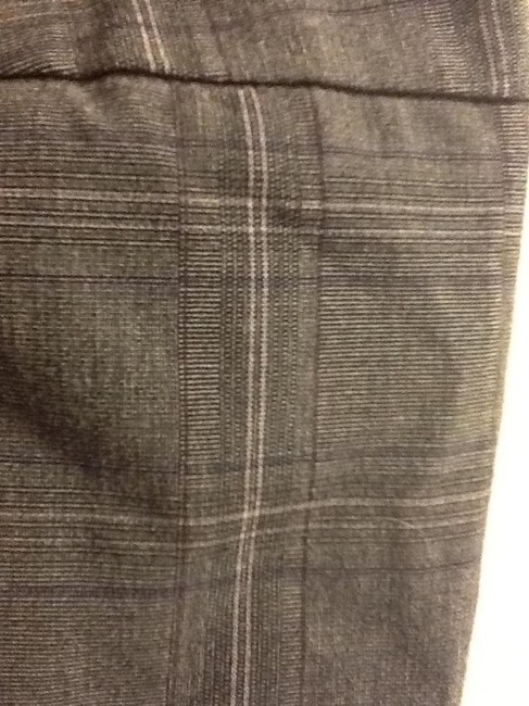 Tribal Ribbon Accent Petite Office Ribbon Trouser Pants Grey with Puple stripes