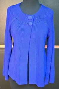 Laura Ashley Rayon Blend Button Long Sleeve Open Cardigan 8420 Sweater