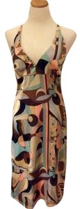 Odessa Stretch-silk Pucci-style Geometric Print Dress