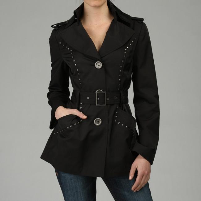 Miss Sixty Studded Trim Trench Coat