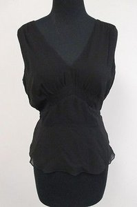 Ann Taylor Silk Lined Top Black