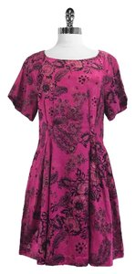 3.1 Phillip Lim short dress Fuchsia Viscose Linen Cotton on Tradesy