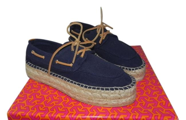 Item - Navy Blue Blanton Espadrille Boat Platforms Size US 8 Regular (M, B)
