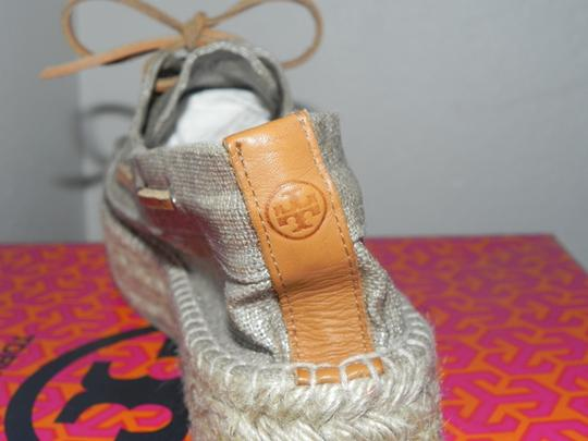 Tory Burch Silver Platforms