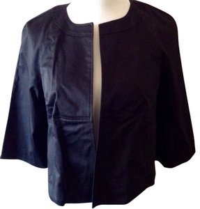 Laundry by Shelli Segal Cropped Bolero Lightweight Black Jacket