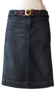 7 For All Mankind Skirt dark blue