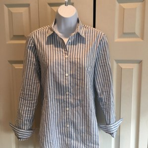 Burberry Brit Button Down Shirt Blue/ White Pinstripe