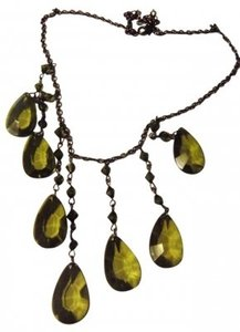 Unknown dark olive green jewel bead Necklace