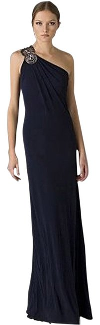 Preload https://item5.tradesy.com/images/david-meister-navy-bejeweled-one-shoulder-jersey-gown-by-long-formal-dress-size-2-xs-1396969-0-0.jpg?width=400&height=650