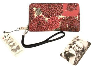 Brighton Brighton Vera Mums Tech Phone Card Wallet Wristlet Red Floral T22087