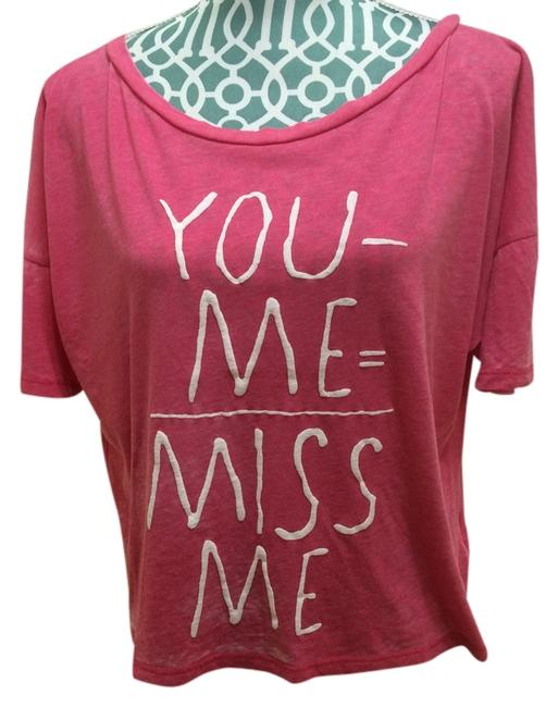 Miss Me T- Cropped Crop Berry Pink Graphic Graphic Juniors Cute Pretty Dance Holiday Season Gift Present Fashion Style Sexy T Shirt Red