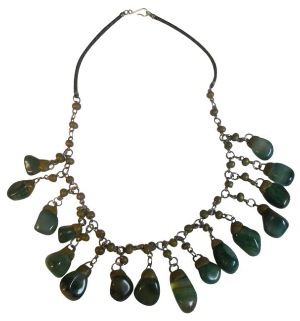 Green Brazilian Semiprecious Stone Necklace Green Brazilian Semiprecious Stone Necklace Image 1