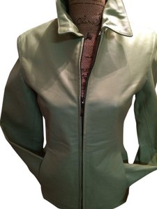 U.S.A. Leather Company Pale Mint Green Jacket