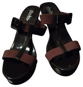 Charles David Sandals Brown Wedges