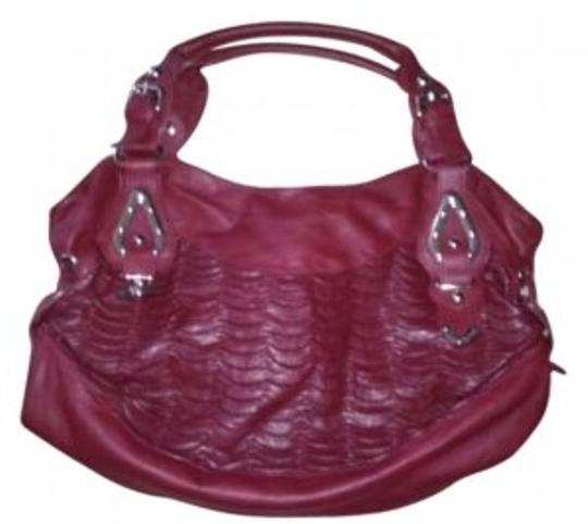 Preload https://img-static.tradesy.com/item/139705/scalloped-and-detailed-purse-silver-details-and-side-gathered-details-zippered-a-big-dark-red-leathe-0-0-540-540.jpg