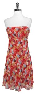 Shoshanna short dress Red Floral on Tradesy