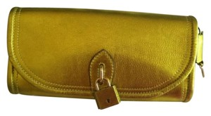 Burberry Gold Mustard Gold Clutch