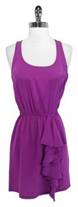 Fifteen Twenty short dress Purple Silk on Tradesy