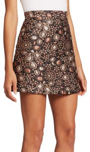 Alice + Olivia Mini Skirt Gold Multi