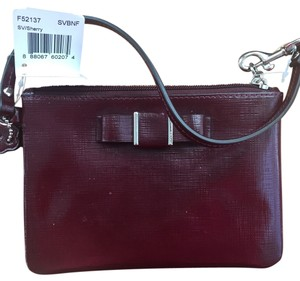 Coach Wristlet in Deep Red