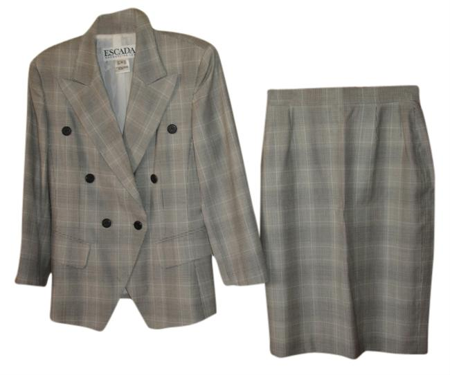 Item - Grey White Black Elegant Blazer Great Used Condition Germany Skirt Suit Size 8 (M)
