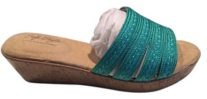 Hush Puppies blue/green Wedges