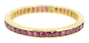14K Yellow Gold 1.0CT Ruby Band Ring 1.2 Grams Size 6