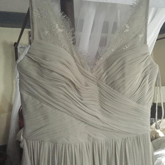 BHLDN Mist Grey Lace Tulle Fleur Formal Bridesmaid/Mob Dress Size 4 (S) Image 1