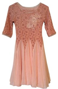 Vintage Lace Asian Chiffon Dress